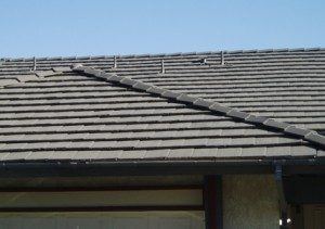 Concrete slate tile roof